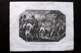 Lyttleton 1811 Print. Grand Charge at Maida by the Troops under Gen Stuart